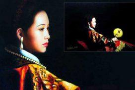 Chinesisches Mädchen, Öl auf Leinwand, 60 x 80 cm, mige