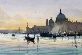 Venedig, Öl auf Leinwand, 3,00 x 2,40 m