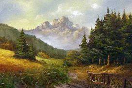 Landschaft  Öl auf Leinwand, 2,00 x 1,50 m